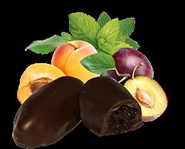 Чернослив и абрикос шоколадный