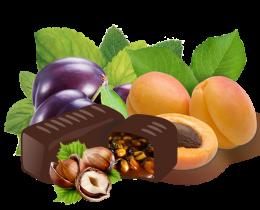 Чернослив и абрикос с орехами в шоколаде