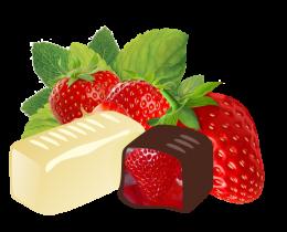 Клубника в белой и темной шоколадной глазури